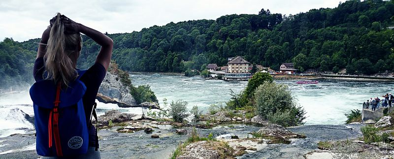 Rheinfall in Switzerland. Loving the feeling of standing  here and enjoying this amazing view at the first time.. ❤❤❤
